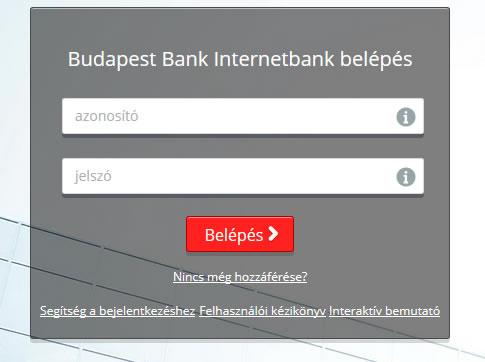Budapest Bank netbank belépés