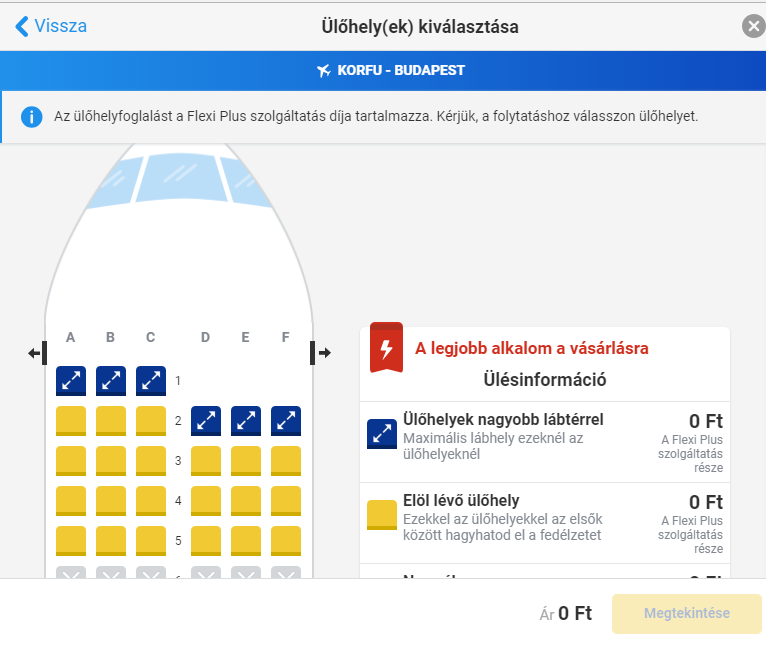 Ryanair ülőhely foglalás