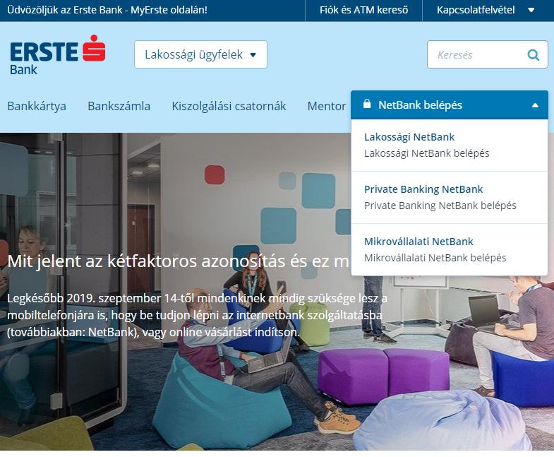 Erste Netbank belépés itt kezdődik